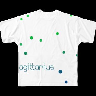 neoacoのSagittarius -12 ecliptical constellations- フルグラフィックTシャツ