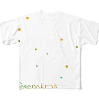 Gemini -12 ecliptical constellations- フルグラフィックTシャツ