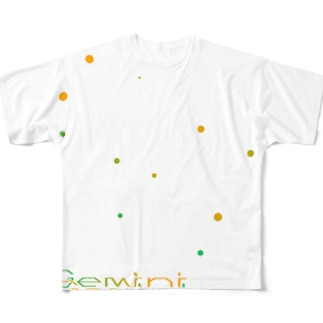 Gemini -12 ecliptical constellations- Full graphic T-shirts
