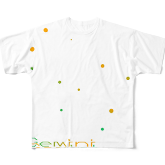 neoacoのGemini -12 ecliptical constellations- フルグラフィックTシャツ