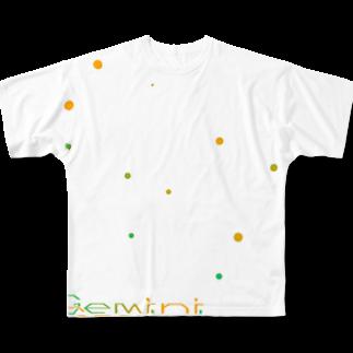 neoacoのGemini -12 ecliptical constellations-フルグラフィックTシャツ