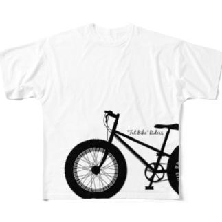 FAT BIKE riders (full) フルグラフィックTシャツ