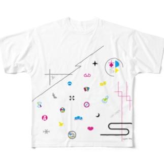 廓模様 Full graphic T-shirts
