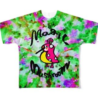 Magic Mushroom Full graphic T-shirts