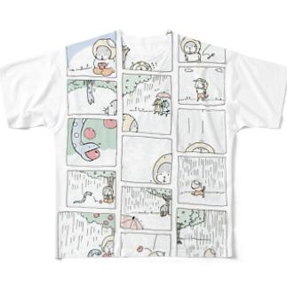 ねことへびのお話 フルグラフィックTシャツ