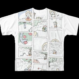 ほっかむねこ屋@デザフェス47  j158のねことへびのお話フルグラフィックTシャツ