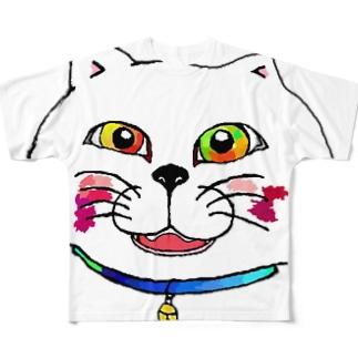 化け猫まであと2ヶ月 Full graphic T-shirts