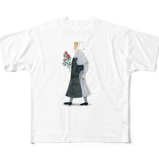 花積むシベスター フルグラフィックTシャツ