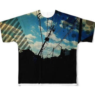 前田卓磨 グラフィックB柄 Full graphic T-shirts
