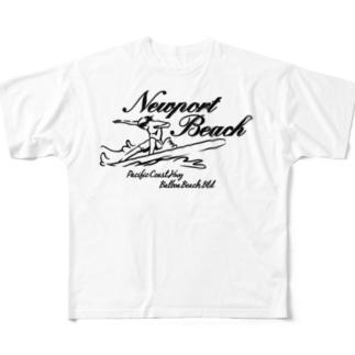 NEWPORT BEACH  LIGHT COLOR VERSION フルグラフィックTシャツ