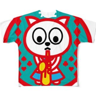 パ紋No.2976 うさこ Full graphic T-shirts
