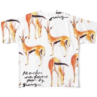 gazelle フルグラフィックTシャツ