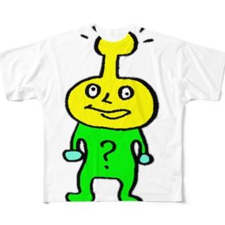 ハテナ Full graphic T-shirts