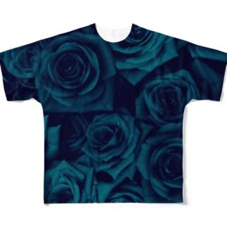 バラ 薔薇  Full graphic T-shirts