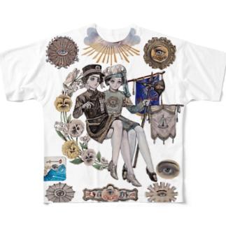 秘密結社 フルグラフィックTシャツ