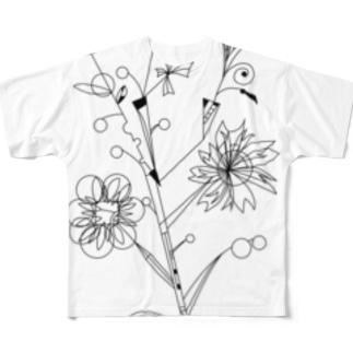 花束 フルグラフィックTシャツ