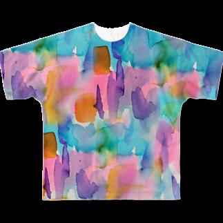hugging love +《ハギング ラブ プラス》のneutralフルグラフィックTシャツ Full graphic T-shirts
