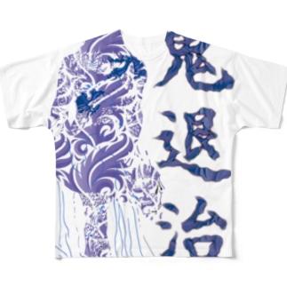 鬼退治 フルグラフィックTシャツ