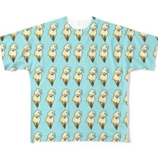 ソフトクリーム フルグラフィックTシャツ