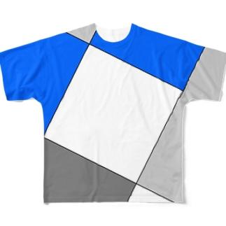 ユークリッド カラーズTシャツ Full graphic T-shirts