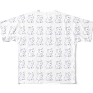 フレンチブルちゃん Full graphic T-shirts