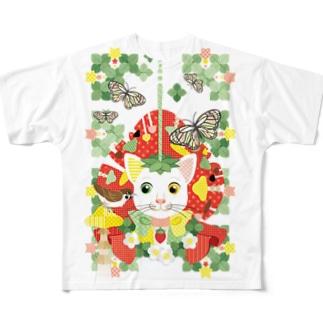 苺大福/Strawberry Daifuku フルグラフィックTシャツ