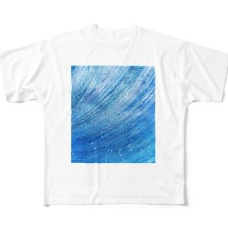 宇宙の風 / Space Wind Full graphic T-shirts