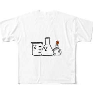 ビーカーくんとそのなかまたちロゴ フルグラフィックTシャツ