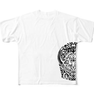 タトゥーティキ Full graphic T-shirts