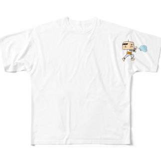 おっちゃん気を発する フルグラフィックTシャツ