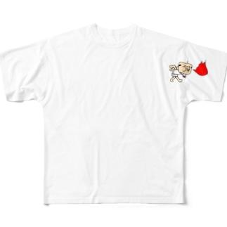 火をふくおっちゃん フルグラフィックTシャツ