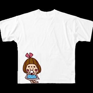 かょのこ♪のおにぎり Full graphic T-shirts