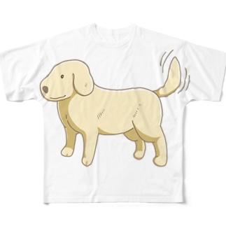 ゴールデンレトリバーグッズ Full graphic T-shirts