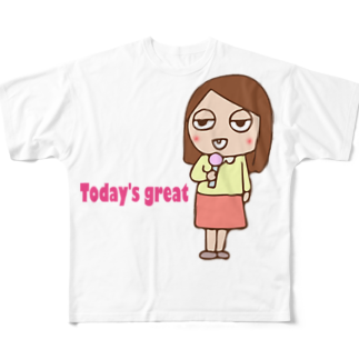 お天気お姉さんありさ フルグラフィックTシャツ