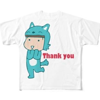ありがとうむっちゃん フルグラフィックTシャツ