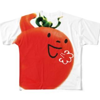 怒れるトマト Full graphic T-shirts