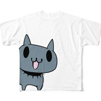 ジュウベエ(vkdbのネコ) フルグラフィックTシャツ