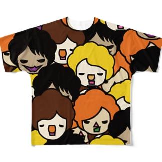 中年まき散らし御膳 Full graphic T-shirts