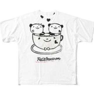 コーヒーカップでルンルン🎵 Full graphic T-shirts