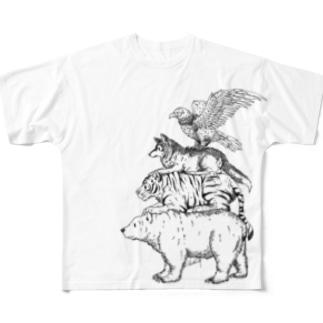 猛獣ブレーメン(simple) フルグラフィックTシャツ