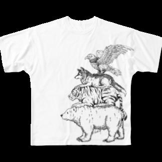 Acabane* Shopの猛獣ブレーメン(simple) フルグラフィックTシャツ