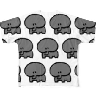 ぞうさんを増産 フルグラフィックTシャツ