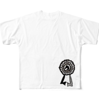 リボン Full graphic T-shirts