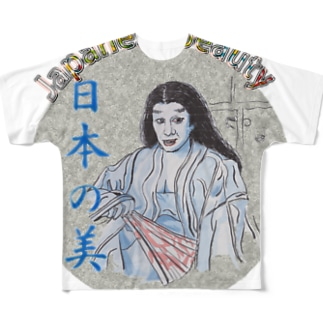 日本の美_舞踊 Full graphic T-shirts