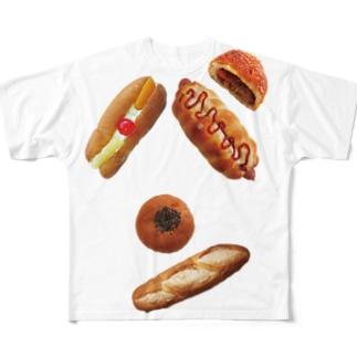 新デザインパンのパン文字 フルグラフィックTシャツ