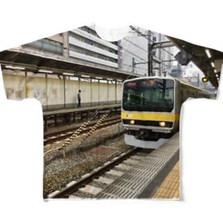 総武線千葉行きT フルグラフィックTシャツ