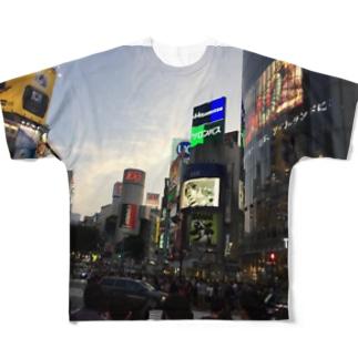 スクランブル交差T フルグラフィックTシャツ