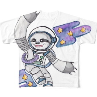 Slow in space. Full graphic T-shirts