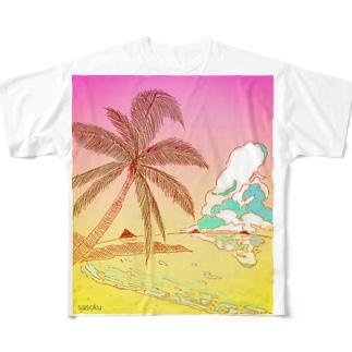 サン・セット Full graphic T-shirts