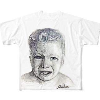Baby,cry baby フルグラフィックTシャツ